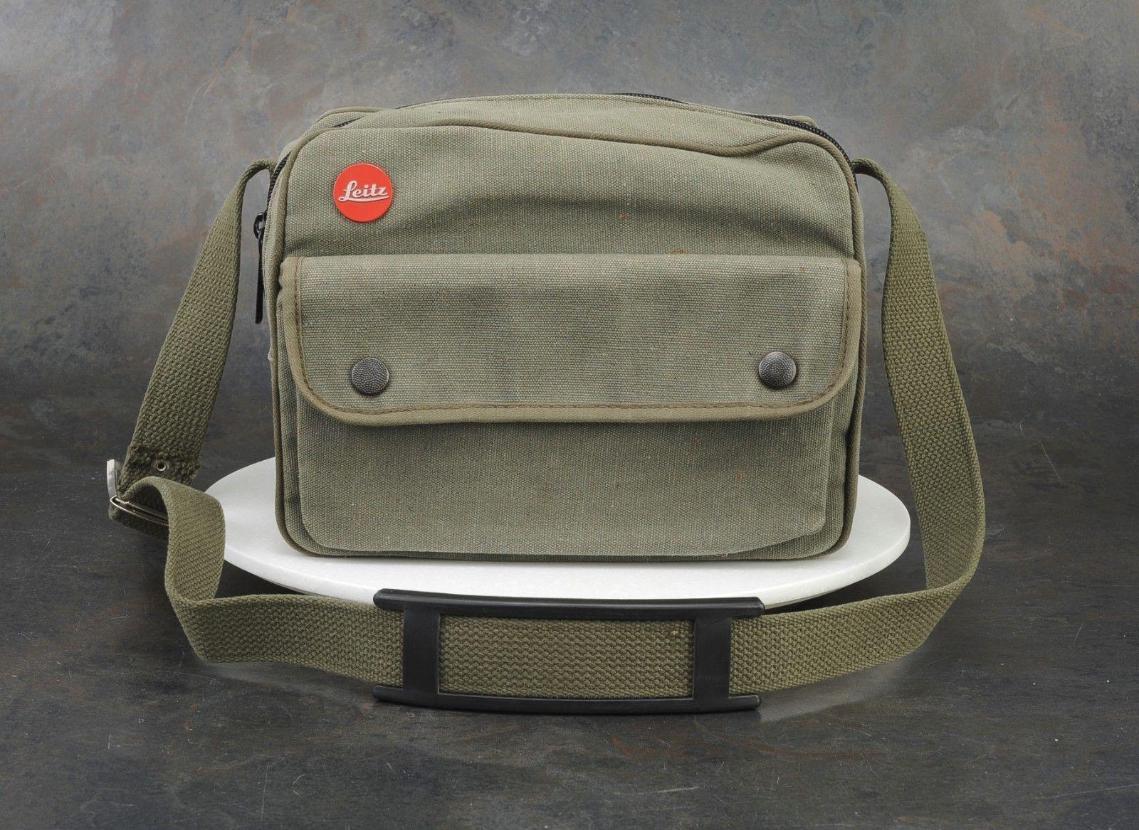 Leica Safari Edition Canvas Camera Bag for R3 Olive Green Shoulder Strap  031bfe3374e86