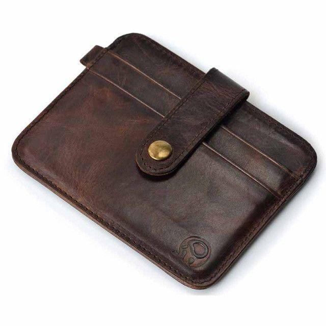 Vintage Leather Key Holder Wallet Keychain Cover Zipper Case Organizer shan