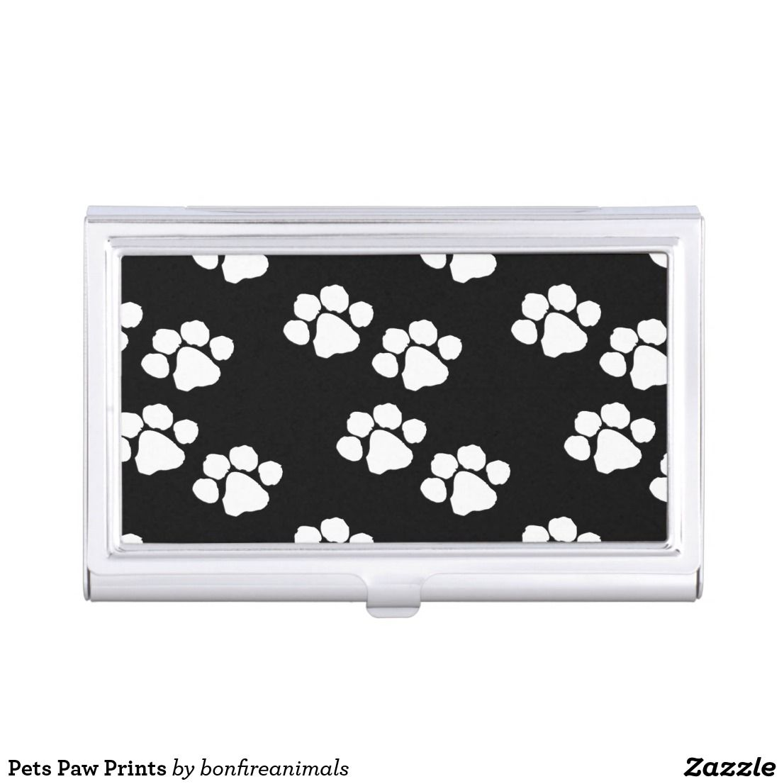 Pets Paw Prints Business Card Holder