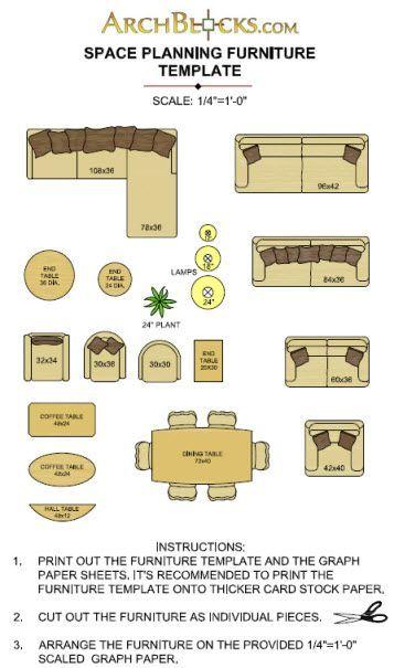 2 1 Furniture Scale Inch Templates