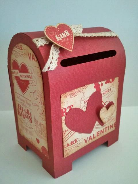 valentine mailbox little mailboxes were created with scal and the svgcutscom valentine - Valentine Mailboxes