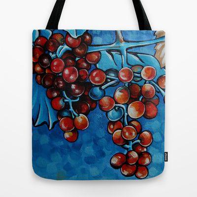 Grapes Tote Bag by Na Liu Cherry - $22.00