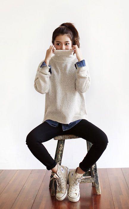Layers Chucks ファッション ファッションスタイル 冬