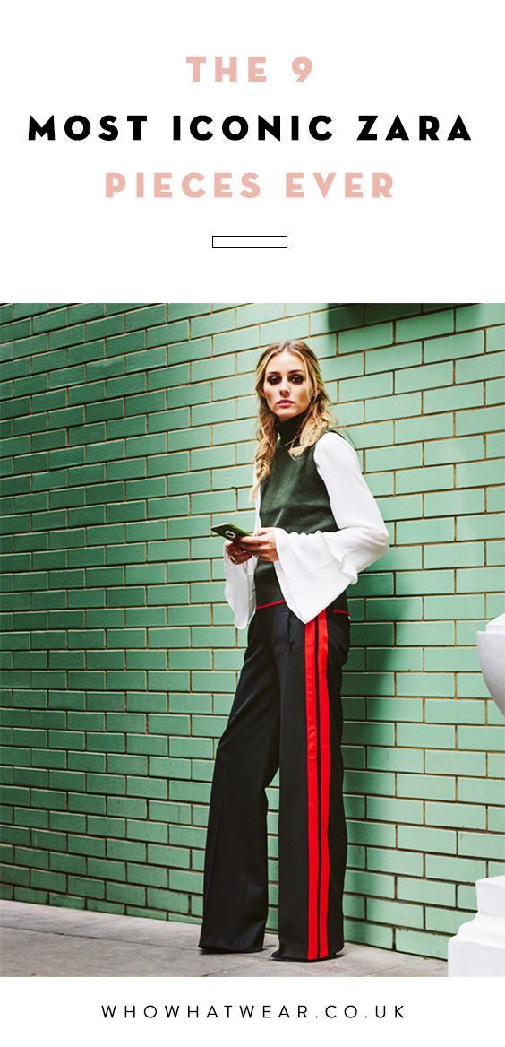 From the oversized leather tote bag made famous by Olivia Palermo to the Aztec-inspired red, black and white blanket coat- these are the most iconic pieces from Zara