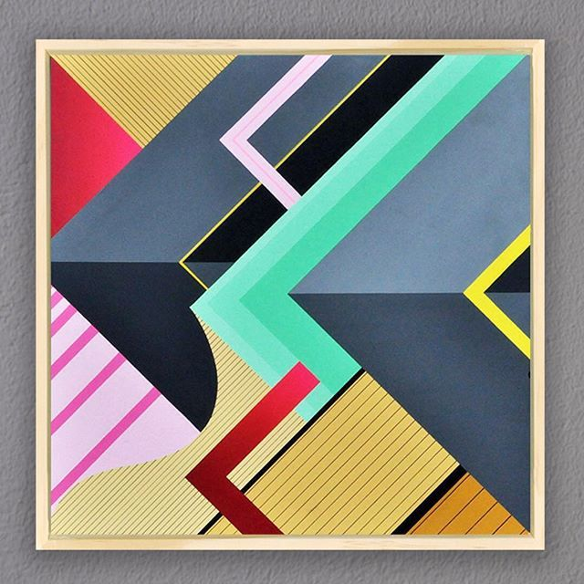 50x50 acrylic and spray paint on wooden panel. Framed and ready! Part of the crystal layers series. For available works and prices just send me a PM. #nasepop #pops #art #acrylic #50x50 #crystallayers