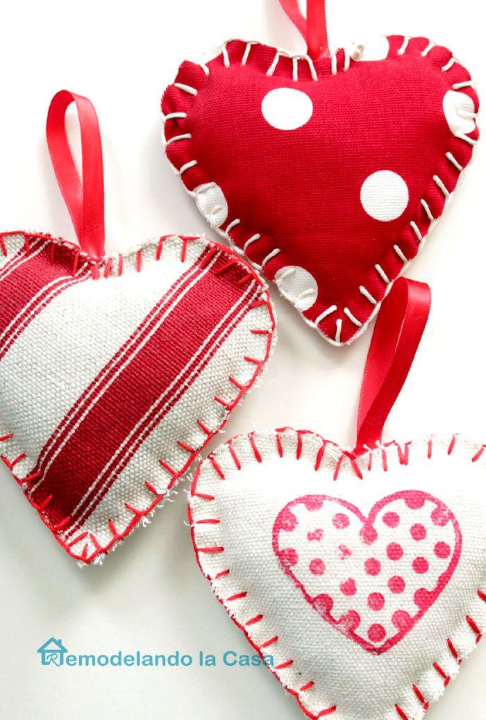 Photo of Fabric Heart Ornaments
