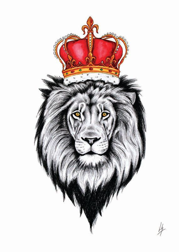 A4 signed print Lion King by DesignsbyLibbyW on Etsy, £20 00