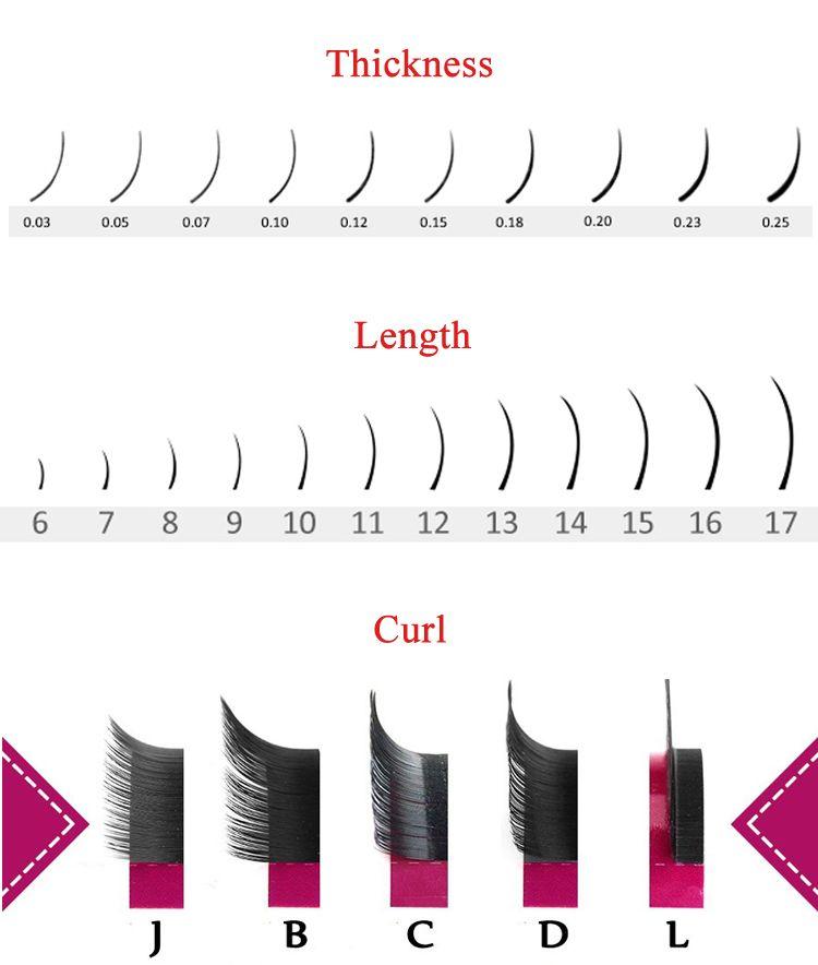 415fbe1cd70 Wholesale Individual Eyelash Extension Flat, High Quality Beauty Flat  Ellipse Eyelash Extensions, Natural Black Eyelashes Flat