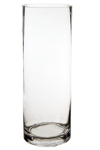 Cylinder Vase Glass Vases Wholesale H 14 Open Diameter 5 Lot