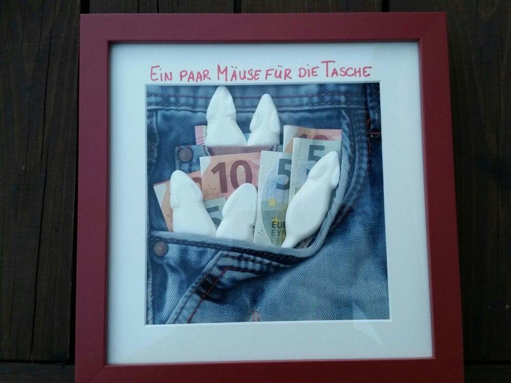 Ein Paar Mause Fur Die Tasche Geburtstagsgeschenk Geldgeschenke