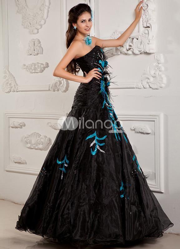 strapless sweetheart ball gown net elastic woven satin long prom dresses