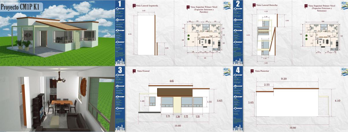 Kilotapias espaciohonduras dise os y planos de casa de for Proyectos casas minimalistas