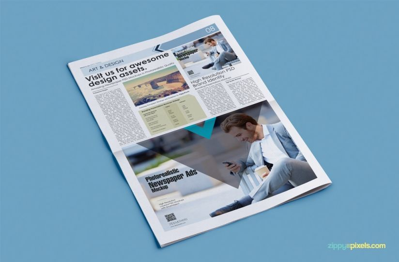 Hd Mockups For Newspaper  Advertising Design Presentations