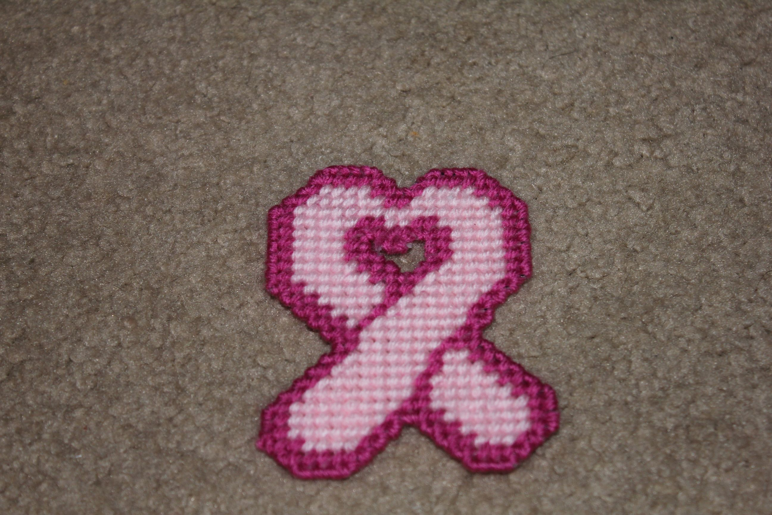 breast cancer plastic canvas