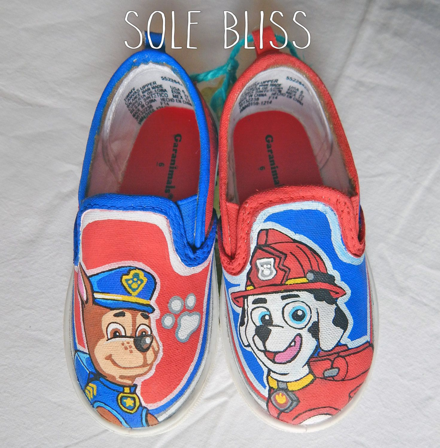 Etsy   Painted shoes, Paw patrol shoes