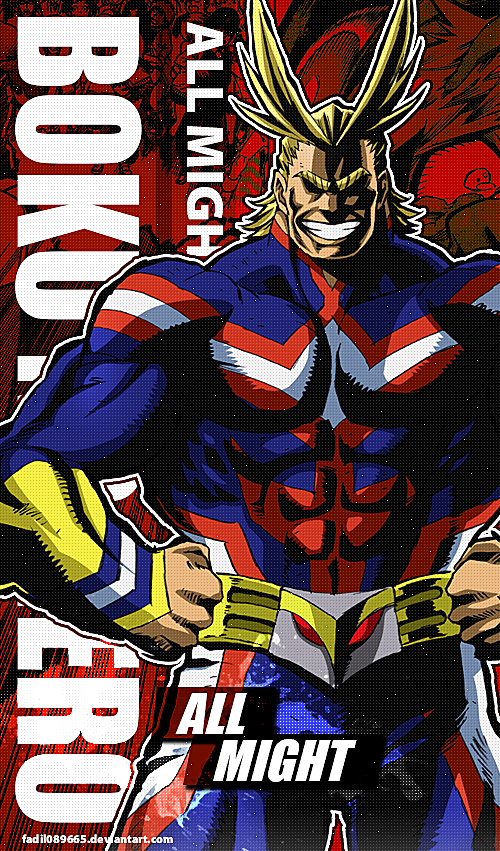 My Hero Academia Wallpapers Mobile All Might By Fadil089665 My