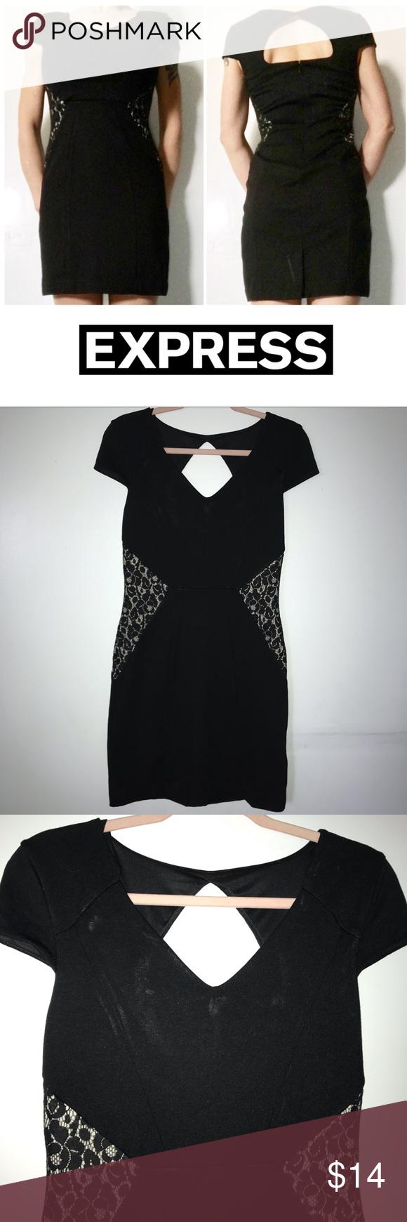 Express Black Cream Lace Detail Mini Dress 6 Small Dress Size Chart Women Mini Velvet Dress Express Bodycon Dress [ 1740 x 580 Pixel ]