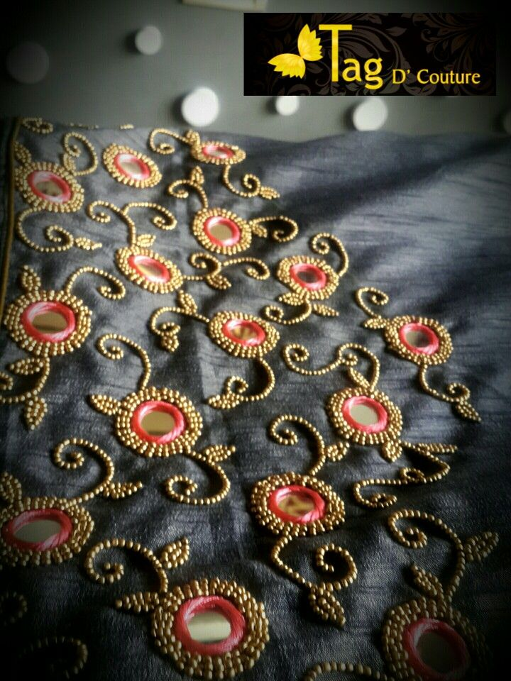 Beads N Mirror Embroidery Work Sew In 2019 Pinterest