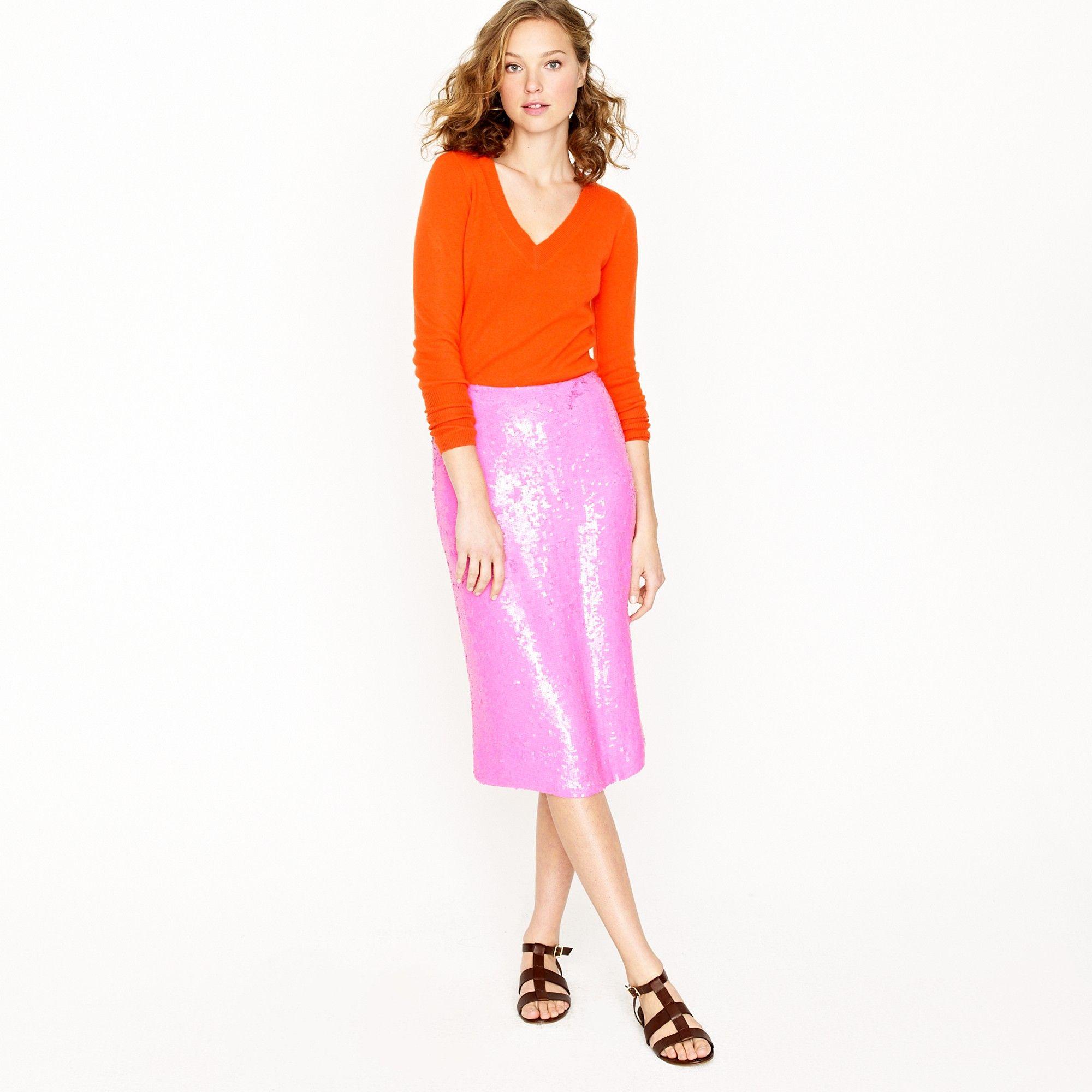 d5e1ba743d3f J.crew No. 2 Pencil Skirt in Sequins in Purple (azalea)