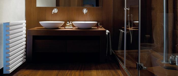 Radiador Soho diseñado por Roberto y Ludovica Palomba para el baño