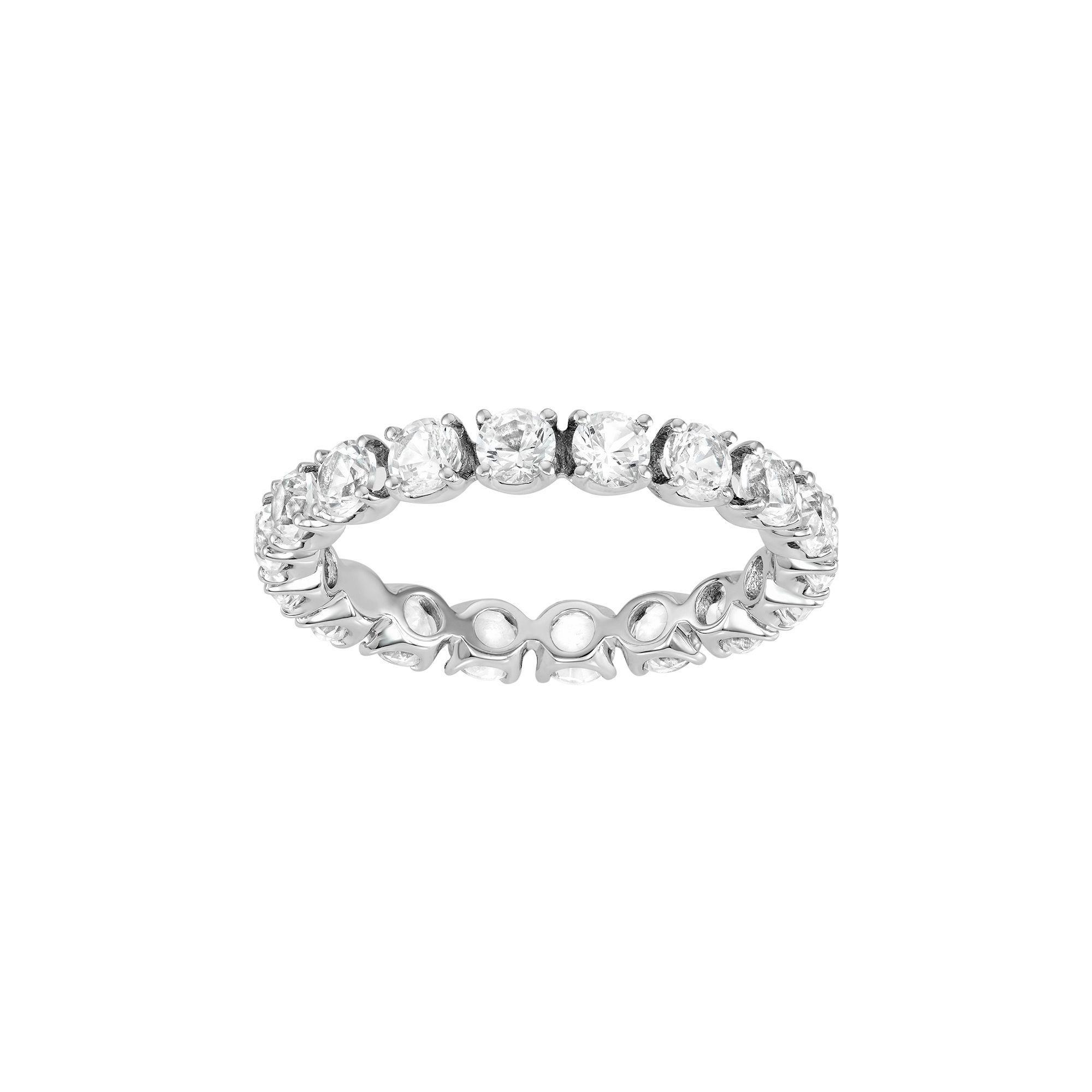 Aquamarine Lab Created White Sapphire Ring In 10k White Gold White Sapphire Ring White Gold Rings White Sapphire