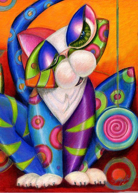 """""""Wall Flower Kitty"""" par Alma Lee"""