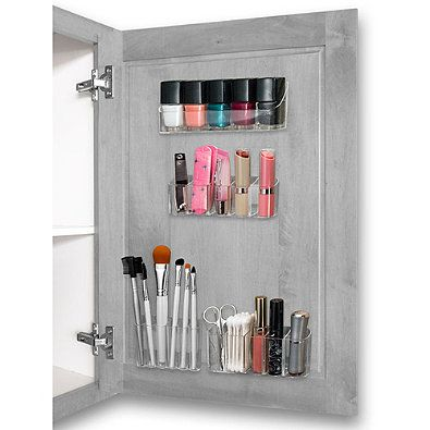 Health and Beauty Organizer 4-Piece Kit in Clear