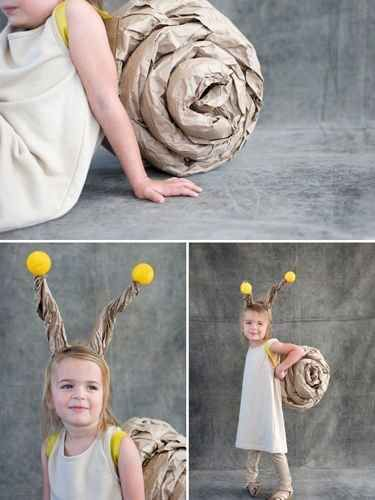 Crumple up some kraft paper to make a snail shell 51 Cheap And - cheap homemade halloween costume ideas