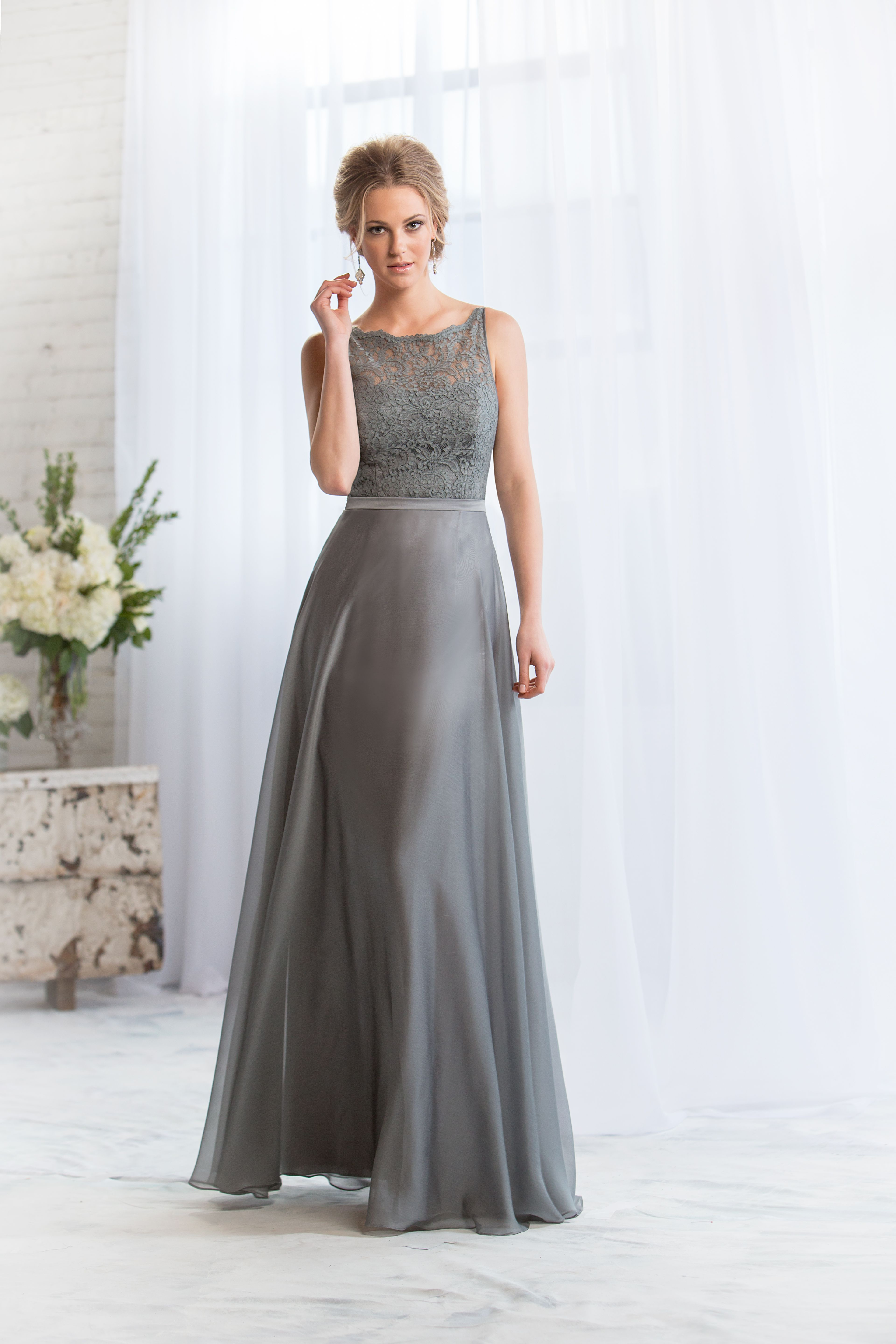 Bridesmaid dress is grey with lace top and chiffon skirt bridesmaid dress is grey with lace top and chiffon skirt available in a full range ombrellifo Gallery