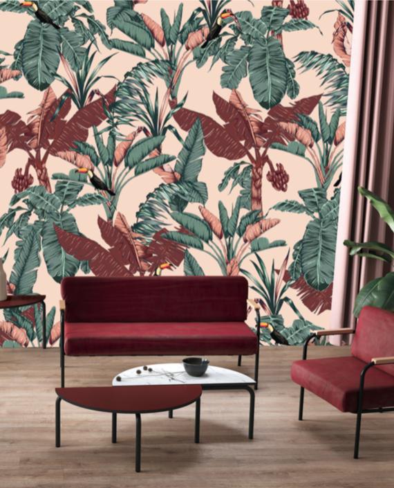 Le De Papier Peint India Panorama Wild En 2020 Papier Peint Deco Design Art Deco