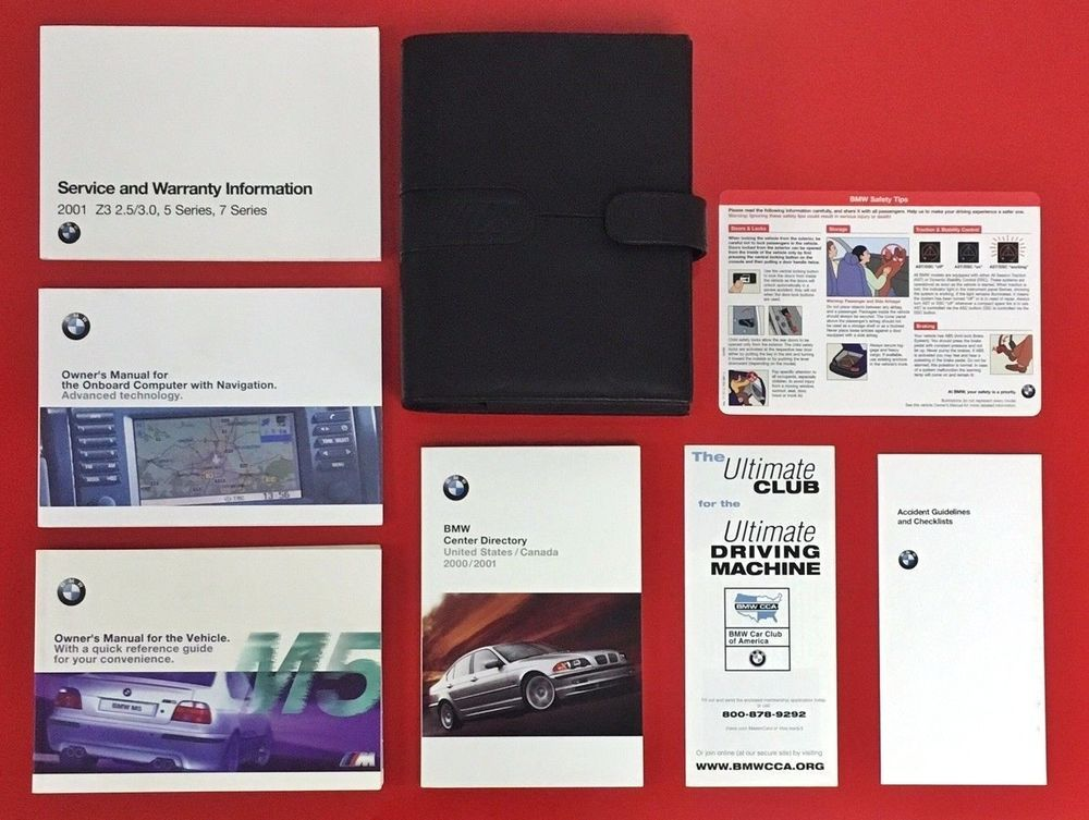 2001 2002 2003 Bmw M5 Owners Manual Set W Nav E39 01 02 03 Bmw M5 Owner S Manual Owners Manuals Bmw M5 Manual