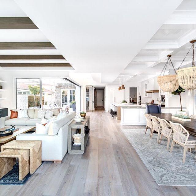Beautiful Open Floorplan In Coastal Modern Home By Lindye Galloway Interiors Modern Floor Plans Living Room Floor Plans Outdoor Kitchen Design