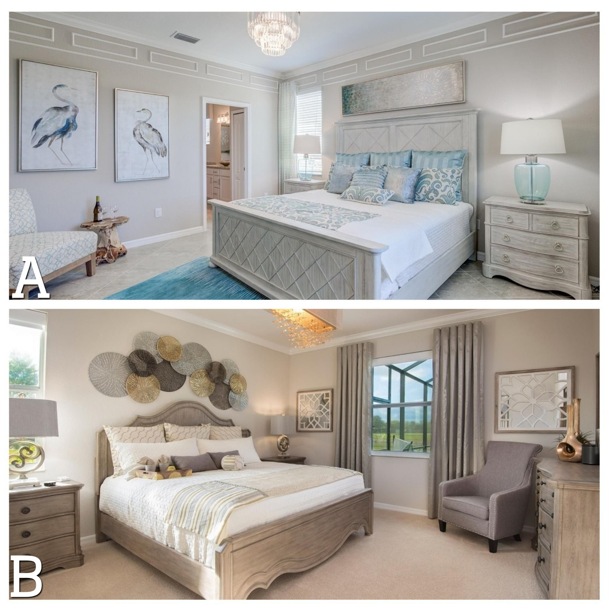 Which venice master bedroom is styled you way a pops of