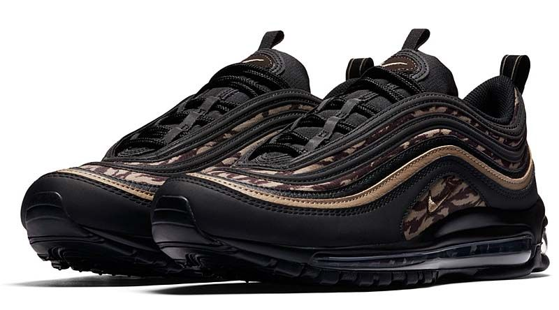 NIKE AIR MAX 97 AOP  BLACK   KHAKI-VELVET BROWN  aq4132-001 ... 260673b11671
