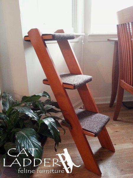 Perfect 3 Step Ladder | Cat Ladder Feline Furniture