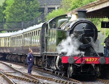 """""""Sea Train Adventure"""". Departs from Torquay. Sail to Dartmouth and return by steam train and bus."""