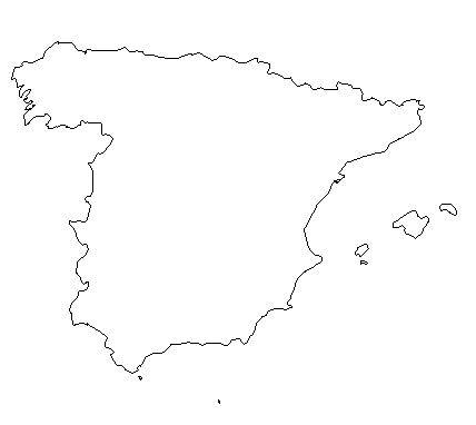 Map Of Spain Drawing.Map Of Spain Coloring Page T E A C H Christmas