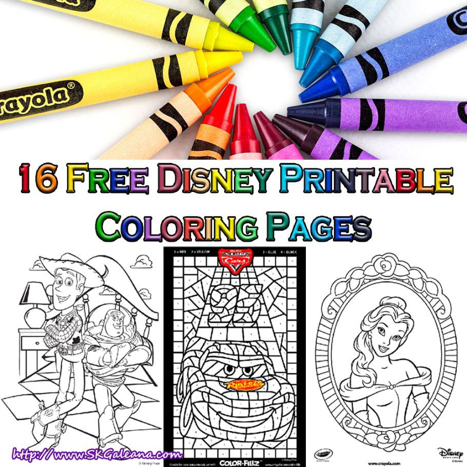 16 Free Disney Coloring Pages From Crayola Free Disney Coloring Pages Disney Coloring Pages Coloring Pages [ 910 x 910 Pixel ]