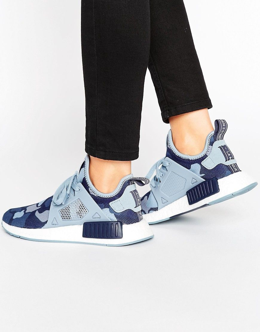 Cheap New Arrivals adidas Originals Midnight Grey NMD Trainers womens Blue camo Adidas Womens Trainers