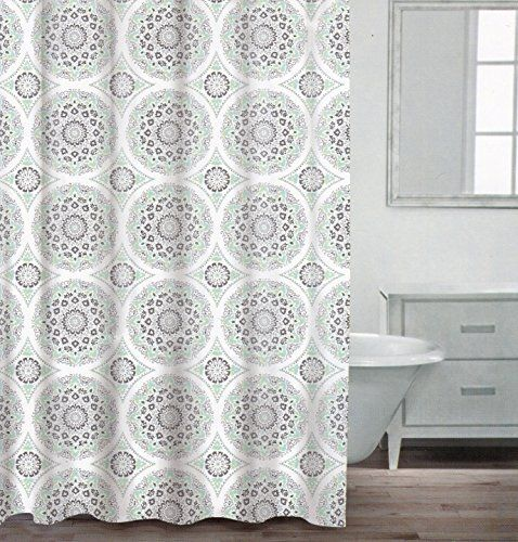Caro Home 100 Cotton Shower Curtain Ornate Medallion Fabric