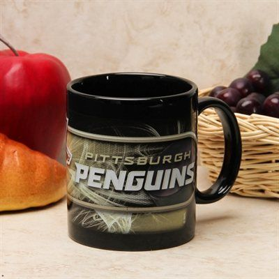 Pittsburgh Penguins 11oz. Sulimated Mug - Black