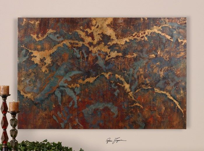 Uttermost // Stormy Night Abstract Wall Art, 60 x 40