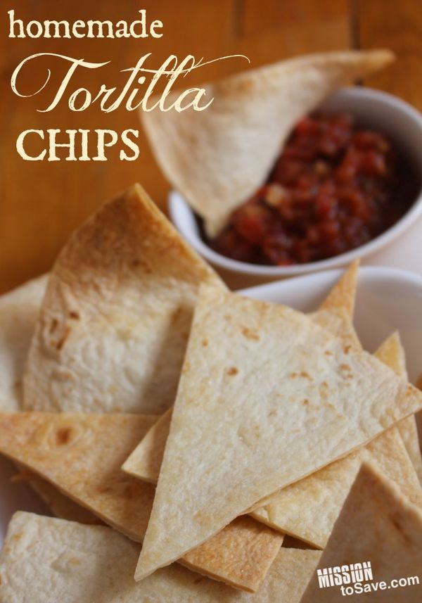 Homemade Tortilla Chips are so easy to make! Perfect to add a special touch for dips and soups. Or to use in a pinch if you run out of store bought.