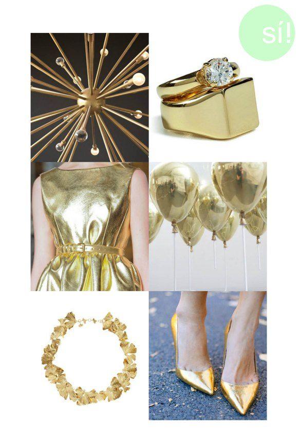 Pantone, oro, dorado, accesorios, boda, tendencia, http://sialsiquiero.wordpress.com/