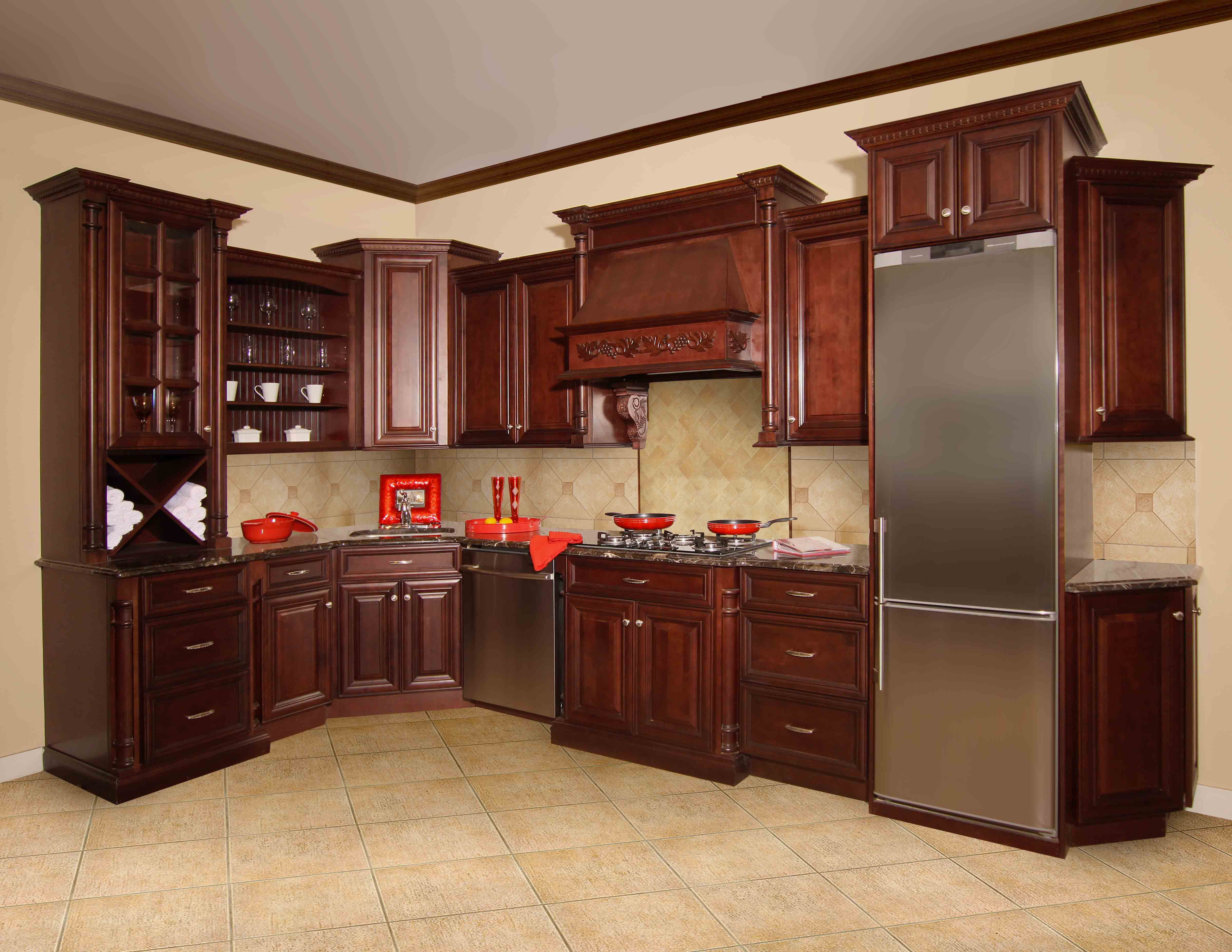 Striking And Rich Our Elite Merlot Kitchen Cabinets Are Sure To Be A Fan Favorite A Cheap Kitchen Cabinets Assembled Kitchen Cabinets Online Kitchen Cabinets