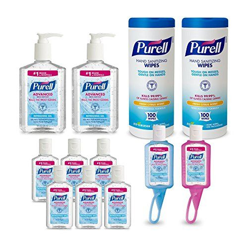 Purell 9652k1 Advanced Hand Sanitizer And Sanitizing Wipe Kit