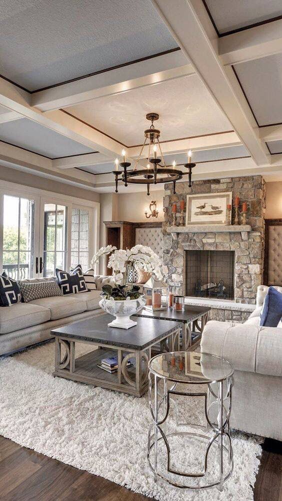 family room lighting. Love Everything About This Room.. Lighting, Ceiling, Rug, Decor, Fireplace Family Room Lighting T