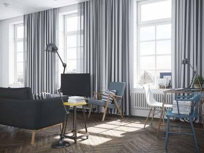 Fensterdeko mit Gardinen von der Befestigung bis zur Reinigung - gardinen wohnzimmer modern
