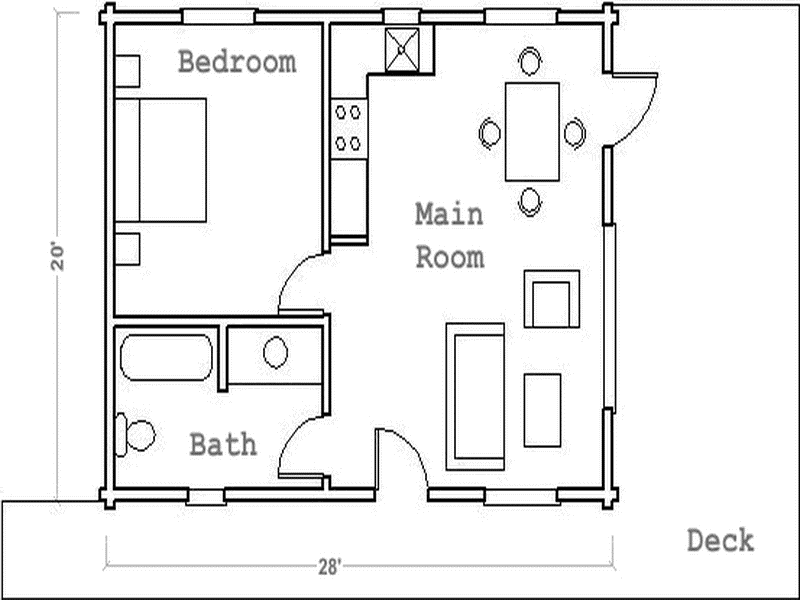 Tiny Home Designs: Guest House Floor Plans The Deck