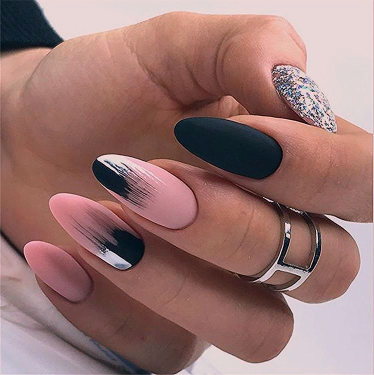 Elegant Almond Matte Nails Design Ideas Almond Acrylic Nails